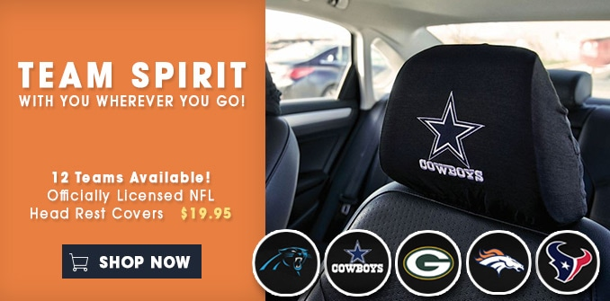 Officially Licensed NFL Head Rest Covers