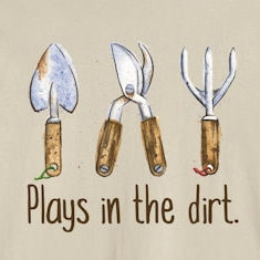 Plays in the dirt. T-Shirts