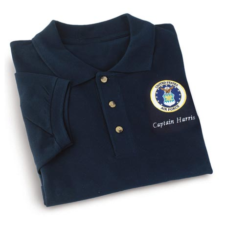 Personalized Air Force Polo Shirt