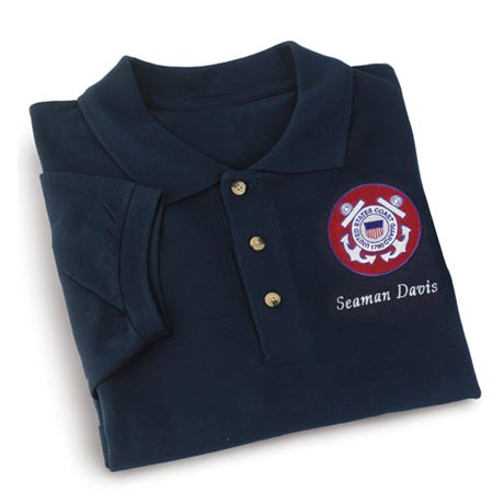 Personalized Coast Guard Polo Shirt