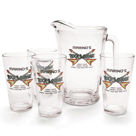 Personalized Rock Lounge Pitcher