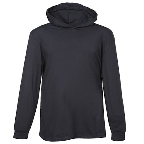 Black Hooded T-Shirt