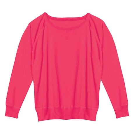 Hot Pink Ladies Sweatshirt