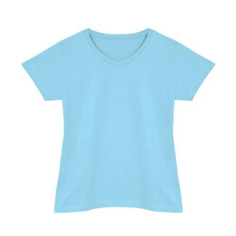 Light Blue Ladies V-Neck