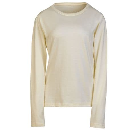 Natural Ladies Long Sleeve T-Shirt