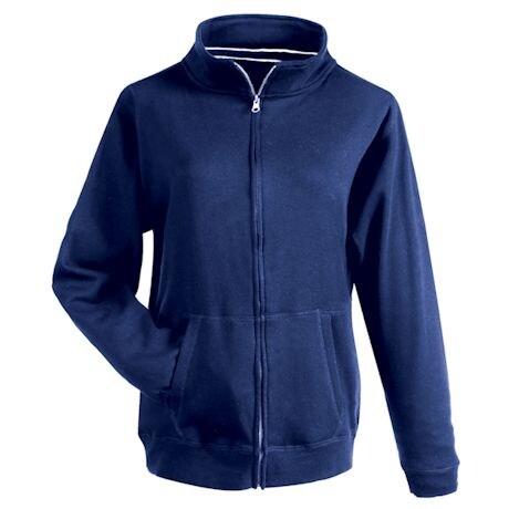 Navy Fleece Full Zip Sweatshirt