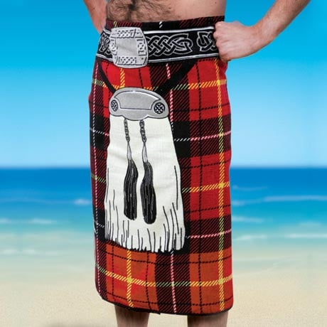 RED KILT BEACH TOWEL