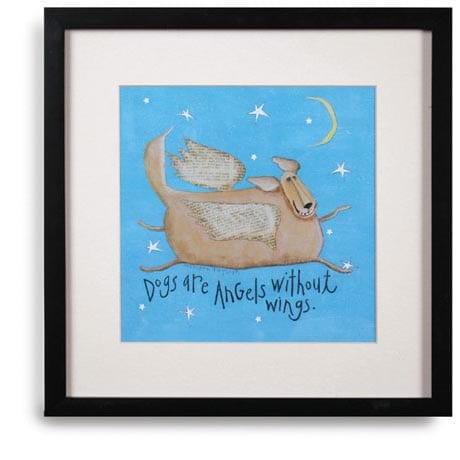 Dogs Are Angels Without Wings Framed Print
