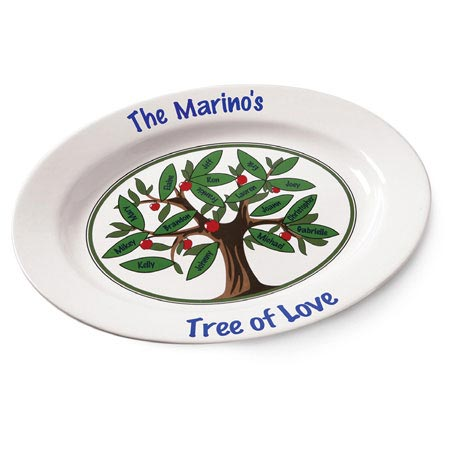 Personalized Tree Of Love Platter