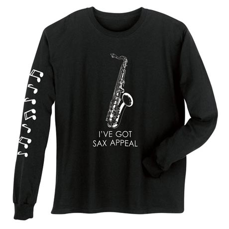 Sax Appeal Saxophone Long Sleeve T-Shirt