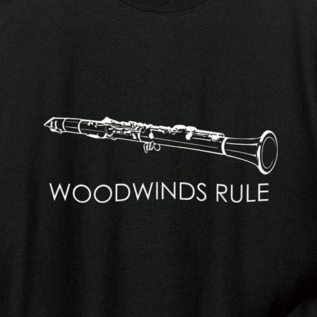 Woodwinds Rule Clarinet Hoodie Sweatshirt