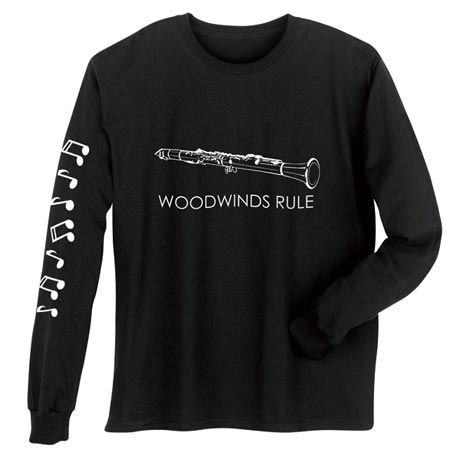Woodwinds Rule Clarinet Long Sleeve T-Shirt