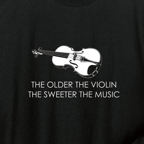 Violin Hoodie Sweatshirt the Older the Violin the Sweeter the Music