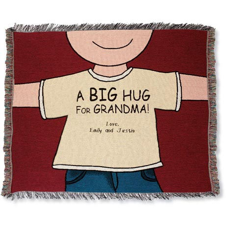Personalized Big Hug Throw - Mom