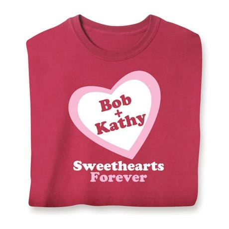 Personalized Sweethearts Long Sleeve Shirt