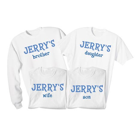Personalized Family Of Shirts