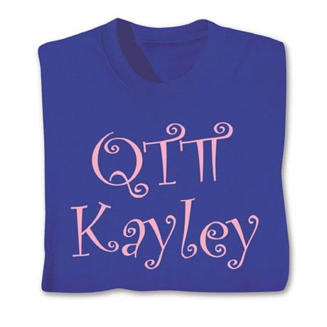 Personalized Qt Pi Shirt