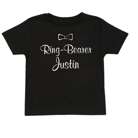 Personalized Ring Bearer Shirt