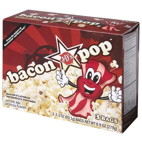 6-Pack Bacon Pop Bacon Flavored Microwaveable Popcorn 2 Boxes of 3 Bags