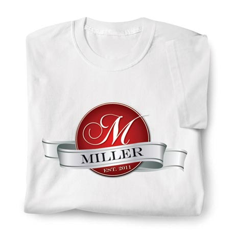 Personalized Monogram And Name Shirt