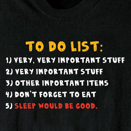 To Do List Shirt