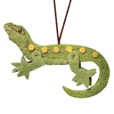 Gecko Recycled Wool Ornament