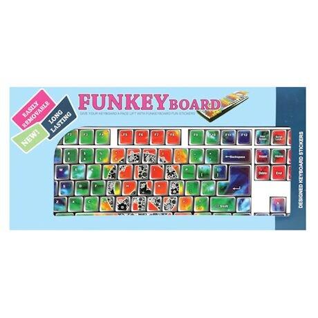 Hippie Tie Dyed Designer Keyboard Stickers