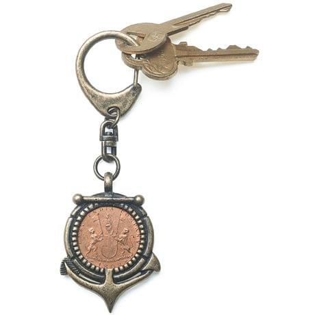 Shipwreck Coin Key Chain
