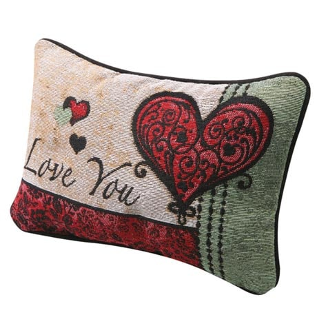 Love You More Throw Pillow with Love You on Reverse