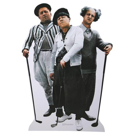 Life-Size Cardboard Movie Standup - Three Stooges Golf