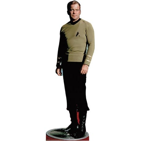 Life-Size Cardboard Movie Standup - Star Trek Captain Kirk Classic