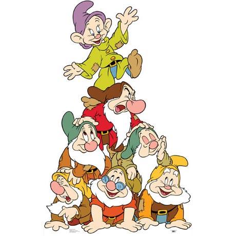 Life-Size Cardboard Movie Standup - Seven Dwarfs