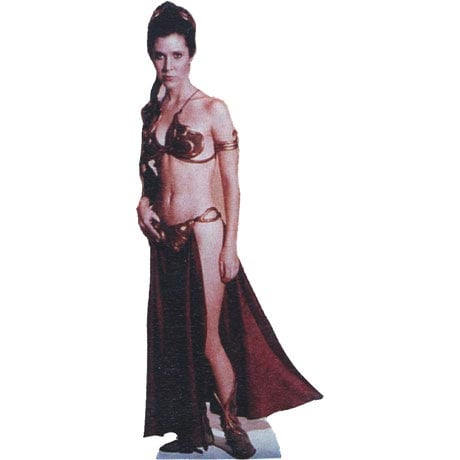 Life-Size Cardboard Movie Standup - Star Wars Princess Leia Slave Girl