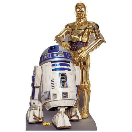 Life-Size Cardboard Movie Standup - Star Wars R2D2 C3Po