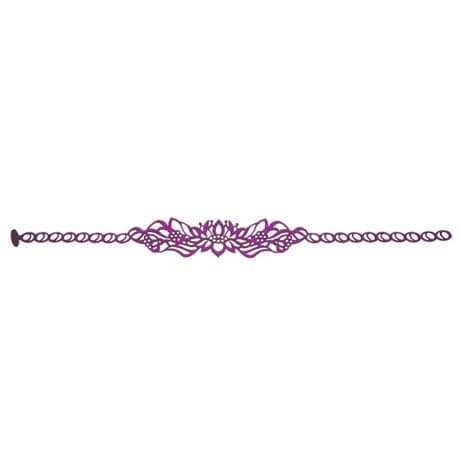 Flexible Body Art Jewelry - Lotus Choker (Plum)