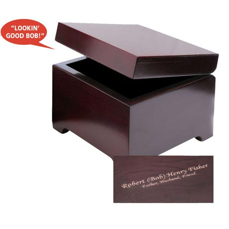 Engraved Bob's Affirmation Box - 4 Lines Of Personalized Message