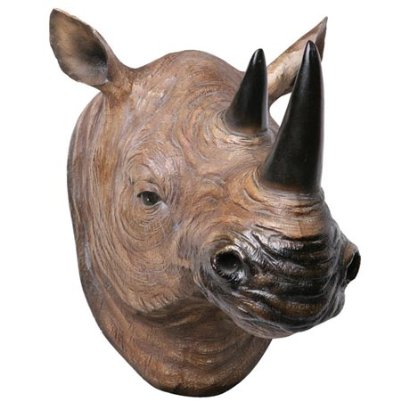 Head Turning 3D Wall Plaque - Rhino
