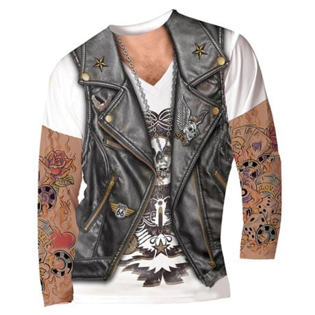 Men's Faux Tattoos Long-Sleeve T-Shirt