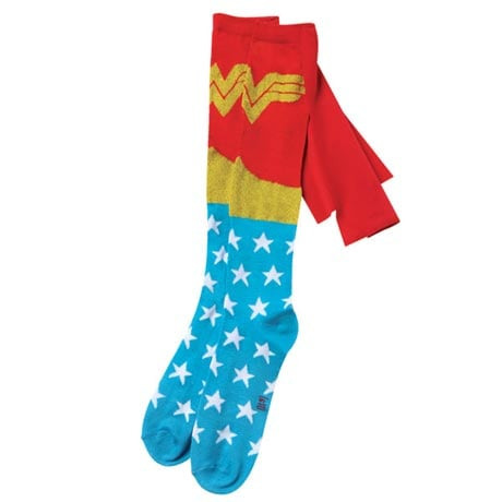 Superhero Knee-High Cape Socks - Wonder Woman