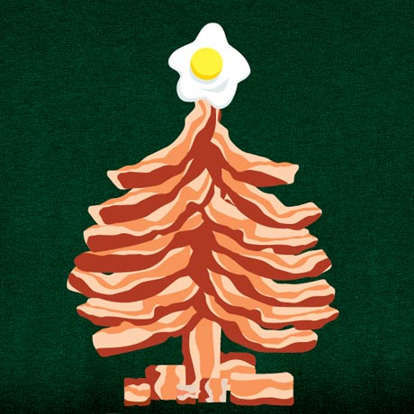 Bacon christmas tree shirts