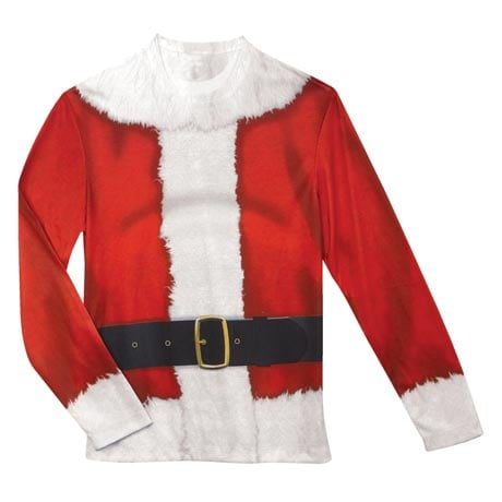 Faux Real Santa Suit Long Sleeve T-Shirt