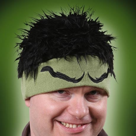 Hulk Beanie With Hair