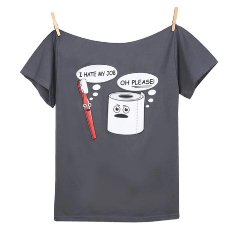 Hate My Job Toothbrush And Toilet Paper T-Shirt