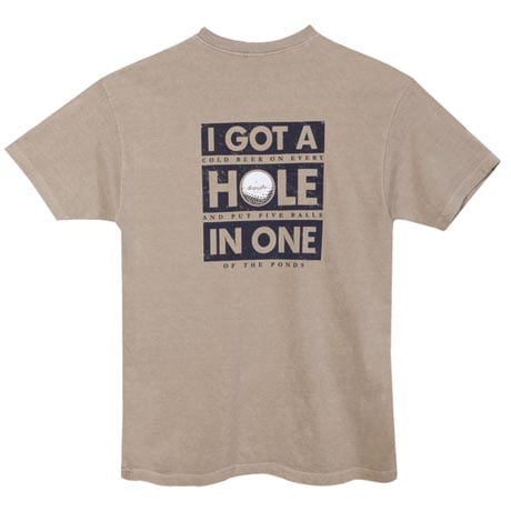 "Golf ""Read Closer"" Hole In One T-Shirt"
