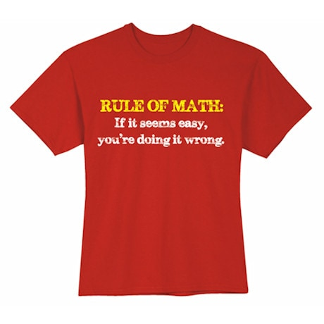 Rule Of Math Shirt