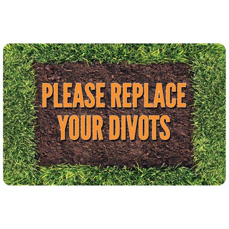 Please Replace Your Divots Doormat