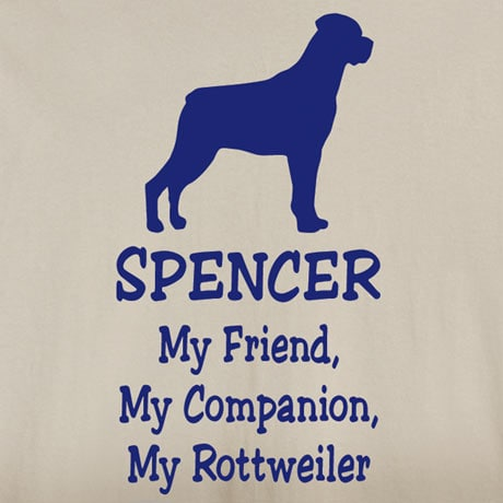 Personalized My Friend, My Companion Shirt - Rottweiler