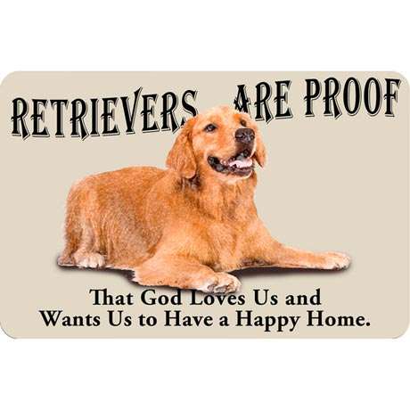 Dog Breed Doormat - Golden Retriever