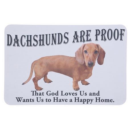 Dog Breed Doormat - Dachshund