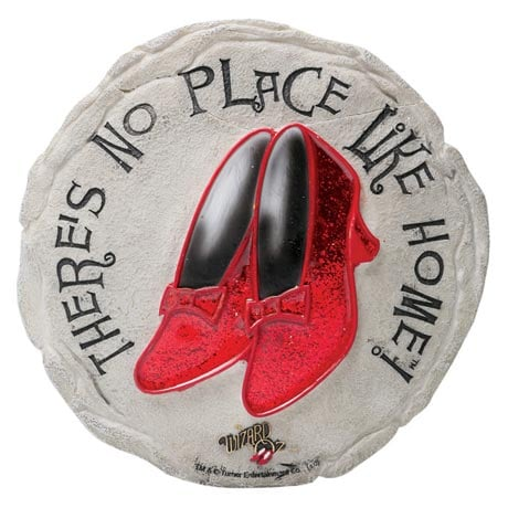 Wizard of Oz Ruby Slippers Stepping Stone or Plaque